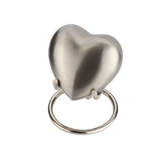 Mini urn hart zilverkleurig