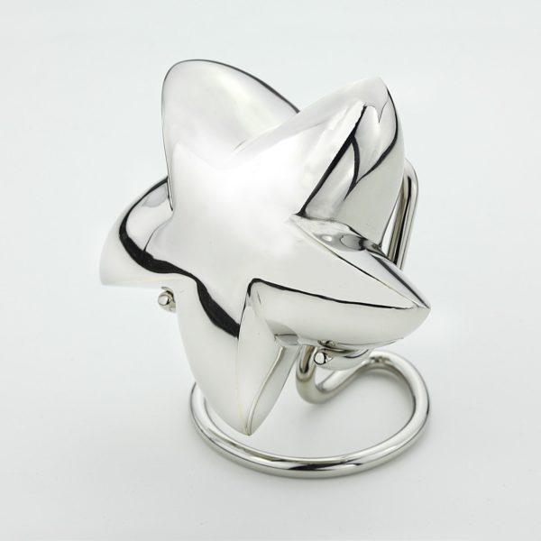 Mini urn ster zilverkleurig