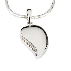 Zilveren Ashanger Traan Zirkonia