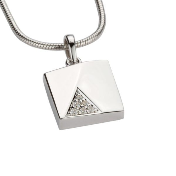 Zilveren Assieraad Vierkantje Zirkonia