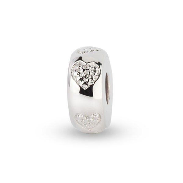 zilveren asbedel rond hartje