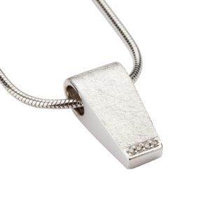 zilveren ashanger design rechthoekig