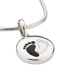 zilveren ashanger voetjes yin yang
