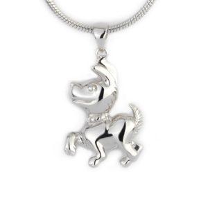 Zilveren Ashanger Hond