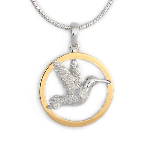 ashanger kolibrie gouden ring