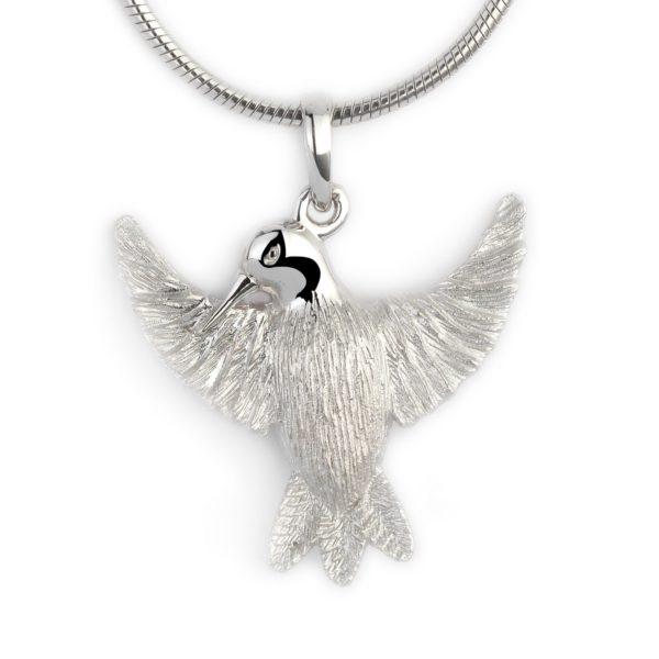 assieraad kolibrie zilver glanzend