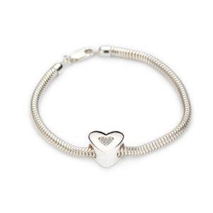 Zilveren armband slang