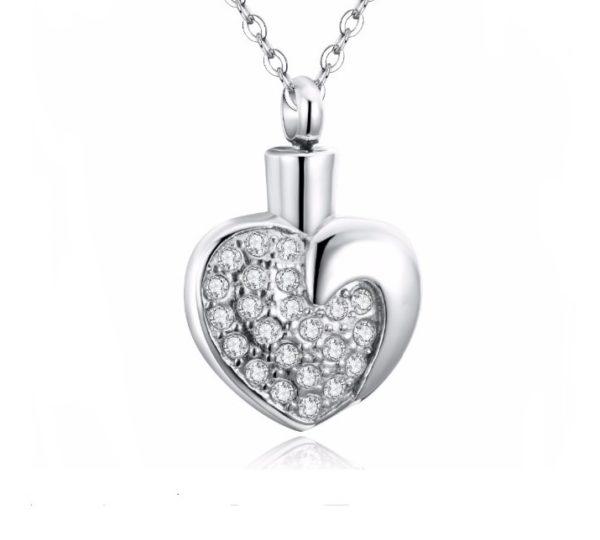 ashanger hart zirkonia zilveren