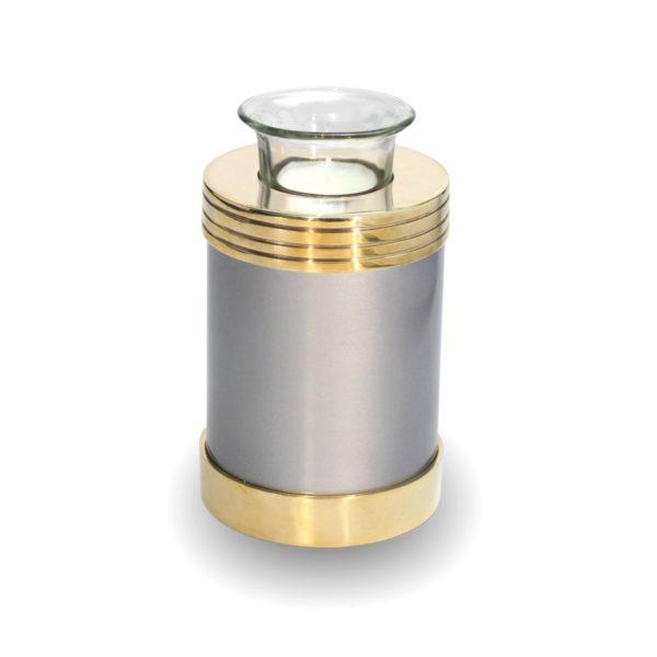 Urn Waxinelichthouder Zilver Goud