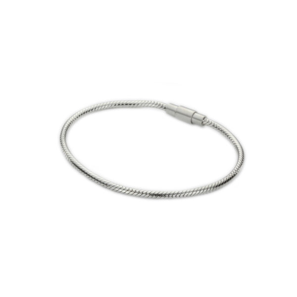 Zilveren armband slang magnetische