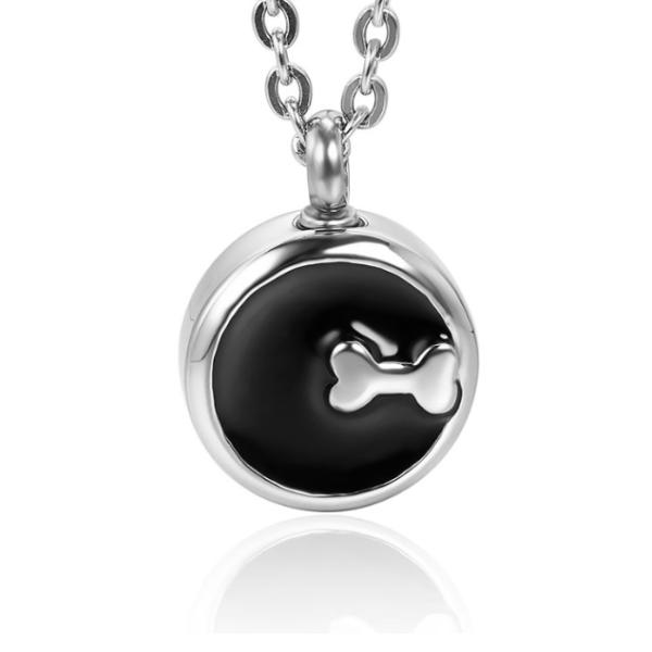 dieren ashanger rond zwart zilver