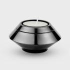 Zwarte mini edelstalen urn