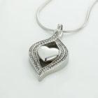 ashanger hart zirkonia zilverkleur