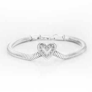 zilveren asbedel exclusief hartje