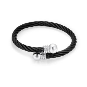 Asarmband zwart edelstaal design