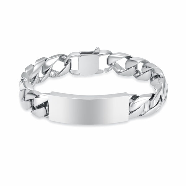 zilverkleurige heren schakelarmband